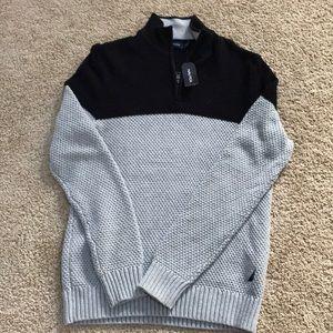 New! Nautica men's medium grey combo sweater